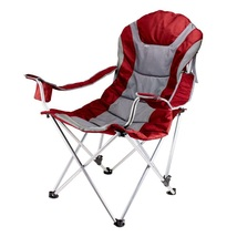 Portable Recliner Chair 300 Lbs Capacity Red Camping Fishing Comfortable... - $68.99