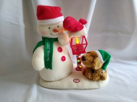 2013 Hallmark Jingle Pals Merry Carolers Trio Snowman Dog Bird Plush - $24.75