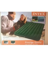 Intex Queen Prestige Air Bed Outdoor Camping Downy Inflatable Mattress |... - $39.59