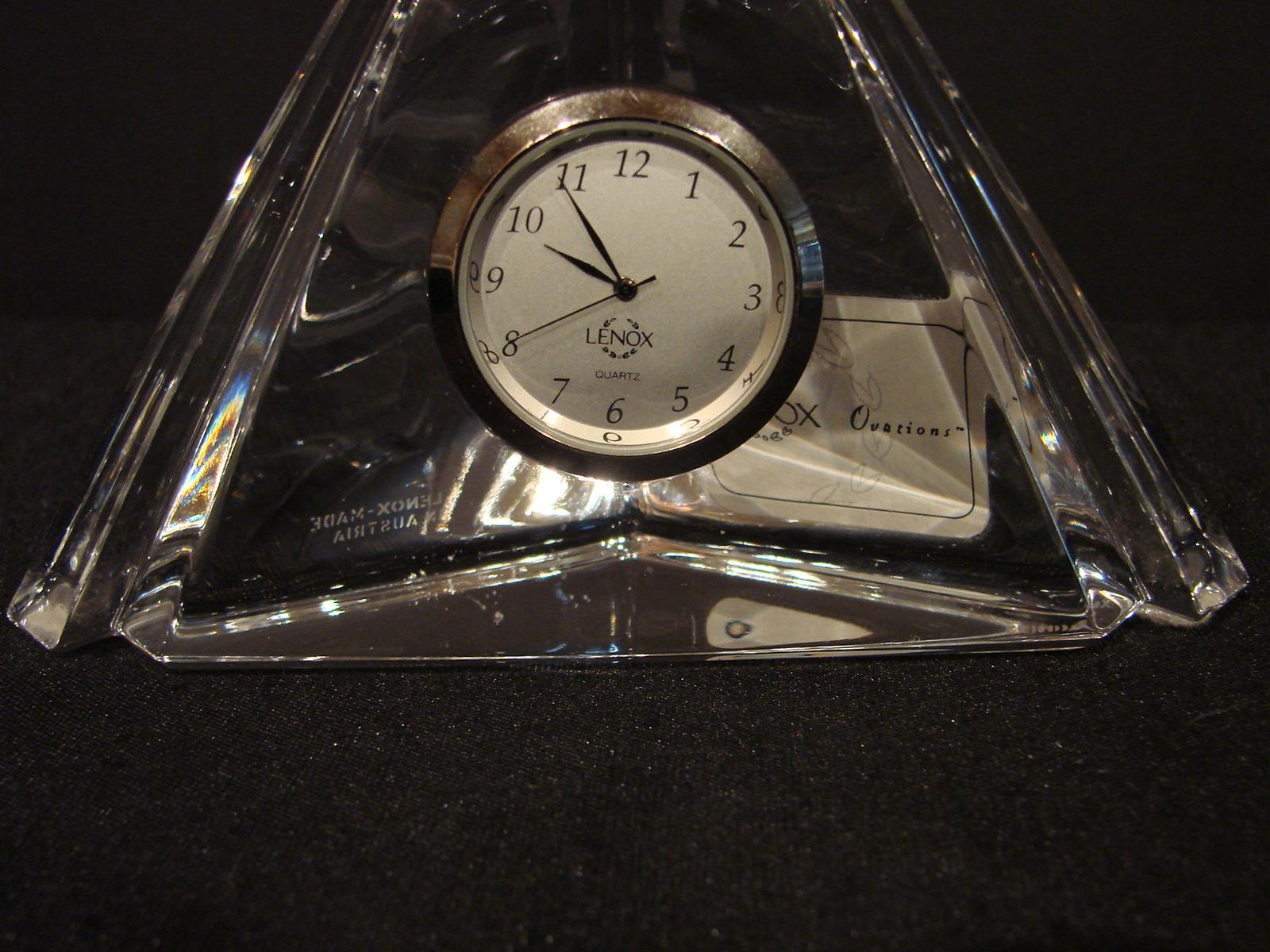 Lenox Ovations Trinity Crystal Table / Shelf Clock