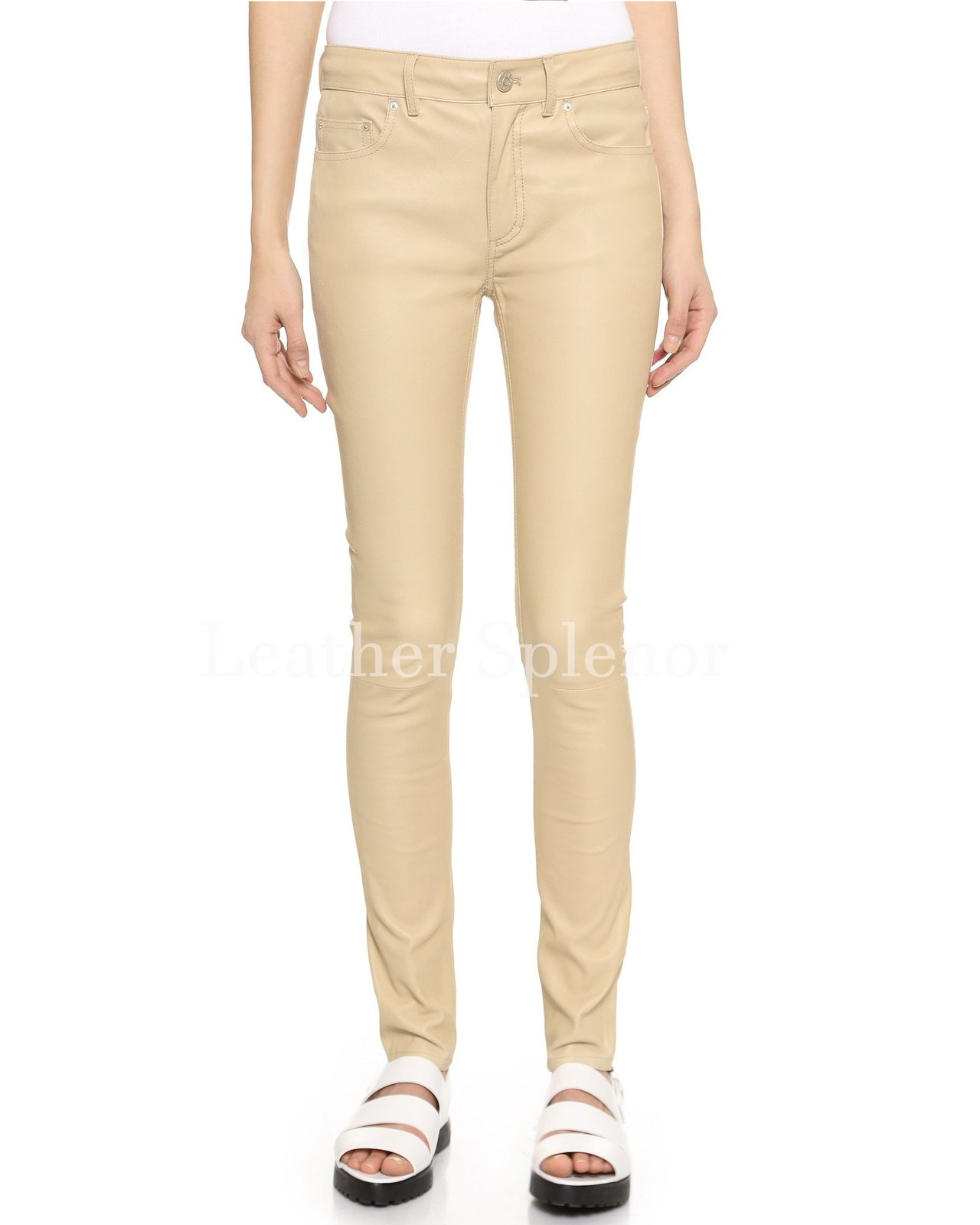 Classic Corporate Women Leather Pant