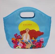 Escada Insulated Lunch Tote Bag Agua Del Sol Light Blue Zipper Cooler - $14.84