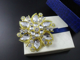 Large Rhinestone Brooch Wedding Brooch Pin Wedding Accessory Wedding Dec... - $9.50