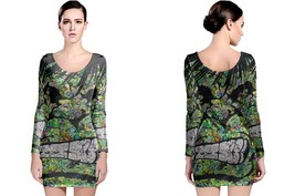 Hulk And Super Hero Art Long Sleeve Bodycon Dress - $28.99+