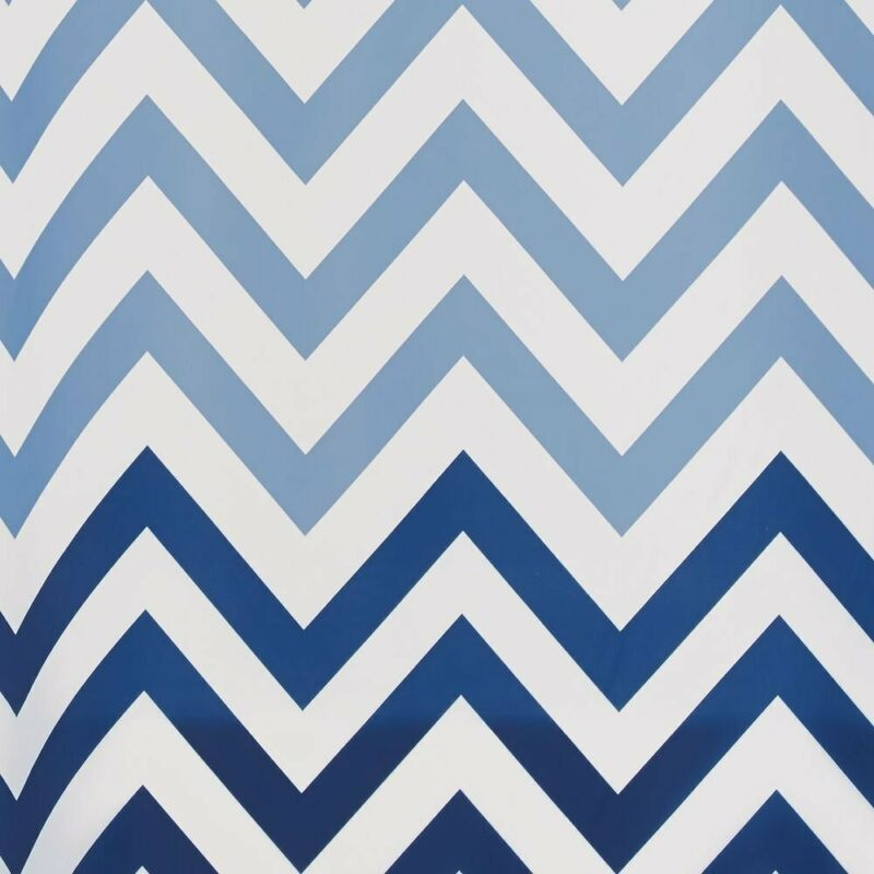 Interdesign Ombre Chevron Fabric Shower Curtain, Modern Mildew-Resistant Bath Li