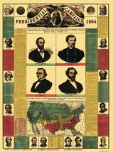 Presidential Campaign - Lloyd 1864 - 23 x 31 - $36.58+