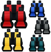 Front and Rear car seat covers Fits Chevy Colorado 2015-2021 Choice of 11 colors - $169.99