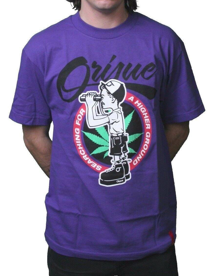 Orisue Mens Searching A Higher Ground Boyscout Purple Marijuana Weed T-Shirt XL