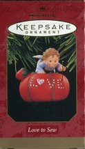 1997 New in Box - Hallmark Keepsake Christmas Ornament - Love to Sew - $6.92