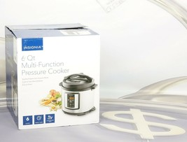 Insignia 6 Qt Multi-Function Pressure Cooker Stainless Steel NS-MC60SS9 New - $34.64
