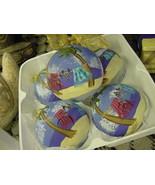 Tropical Beach Detailed Ocean Sea Motif Ornament Glass Ball Hand painted... - $28.49