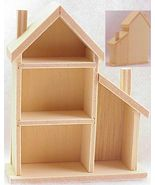 MINIATURE 1/144 tiny toy DOLLHOUSE Shadow Box MUL103 unfinished house - $5.20