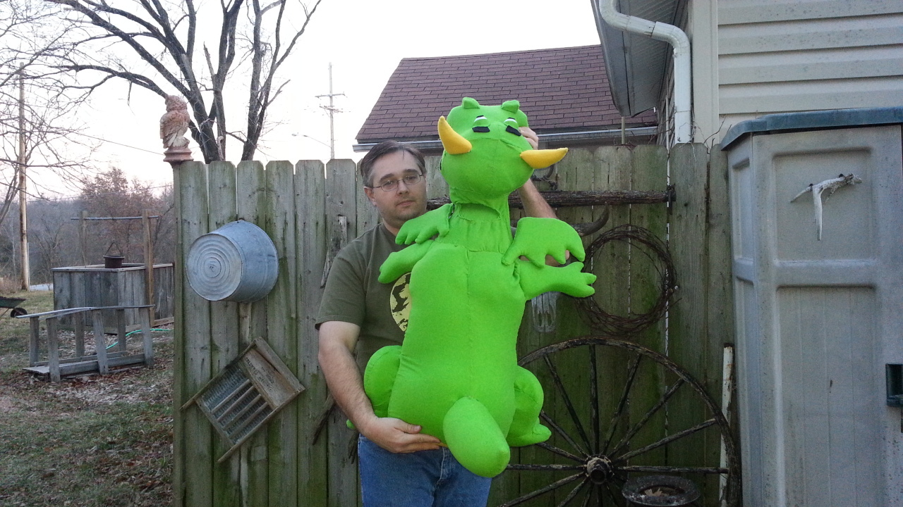 MADE TO ORDER: Professional Dragon Extra Large Muppet Style Ventriloquist Puppet