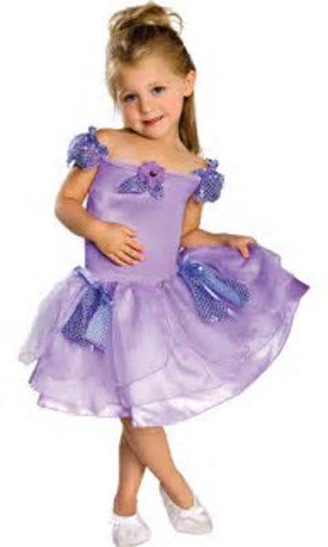 Girls Lavender Musical Ballerina Halloween Costume