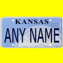 1/43-1/5 scale custom license plate set any brand RC/model car - Kansas tag - $11.00