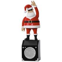 Nothin' But a Good Time Rockin' Santa 2017 Hallmark Solar Ornament  In S... - $30.68
