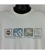 Seahawks Time is Miller Time Mens XL Tee Shirt White Football MGD Beer S... - $29.99