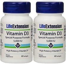 Life Extension Vitamin D3 5000 IU 60 softgels (... - $24.12
