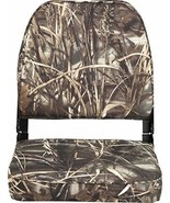 Attwood 98395CAMO Low-Back Padded Boat Seat, Camo, High-Impact Plastic F... - $51.03