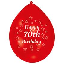 Amscan 22.8cm Happy 70th Birthday 10 Latex Balloons #ggf - $5.99