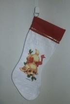 "Vintage Morehead Inc Felt Holiday Stocking Puppy Dog  Preowned 17"" - $8.90"