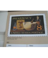 Rx , Pharmacy , 1972 Pharmacy Stamp Calendar , Eli Lilly Pharmaceuticals - $19.91