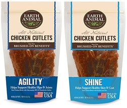 Earth Animal Agility and Shine Chicken Cutlet Treats 2 Bags Each Contain... - $39.63