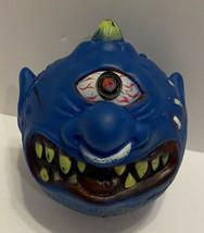 Vtg Blue Horn Head KO Madballs Ugly Crazy Monster Cyclops Rubber Ball Ta... - $32.71