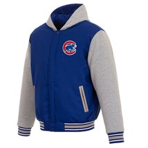 MLB Chicago Cubs JH Design Two Tone Reversible Fleece Hooded Jacket - $104.99