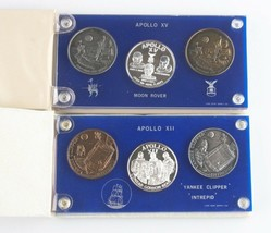 Nasa Medaillen (21 Total) Apollo 1 7 12 14 15 16 17 Silber Nickel Bronze... - $623.56