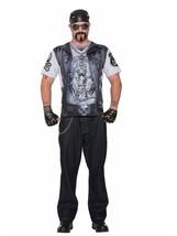Forum Men's Biker Man Printed Shirt Adult Costume, Multi Colored, Medium - $40.54