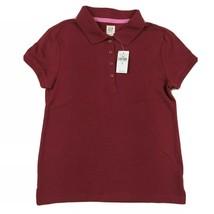 Gap kids Sz 8 Dark Red Short Sleeve Polo Shirt - $12.86