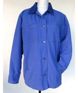 Roper Canvas Barn Coat Woman's Large Blue Zip Out Quilted Green Insulate... - $101.54