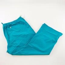 Code Happy Women's Scrubs 5XL Mid-Rise Moderate Drawstring Pants Teal Blue - $21.76