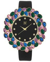 I.N.C. Women's Black Faux Leather Strap 38mm Watch with Interchangeable Bezels image 3