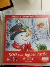 "Sweet Snowman by Jane Maday 500 Piece Jigsaw Puzzle NEW, 18"" x 24"", No. 16087 - $12.86"