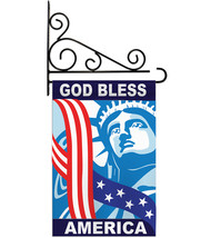 God Bless America - Applique Decorative Metal Fansy Wall Bracket Garden ... - $29.97
