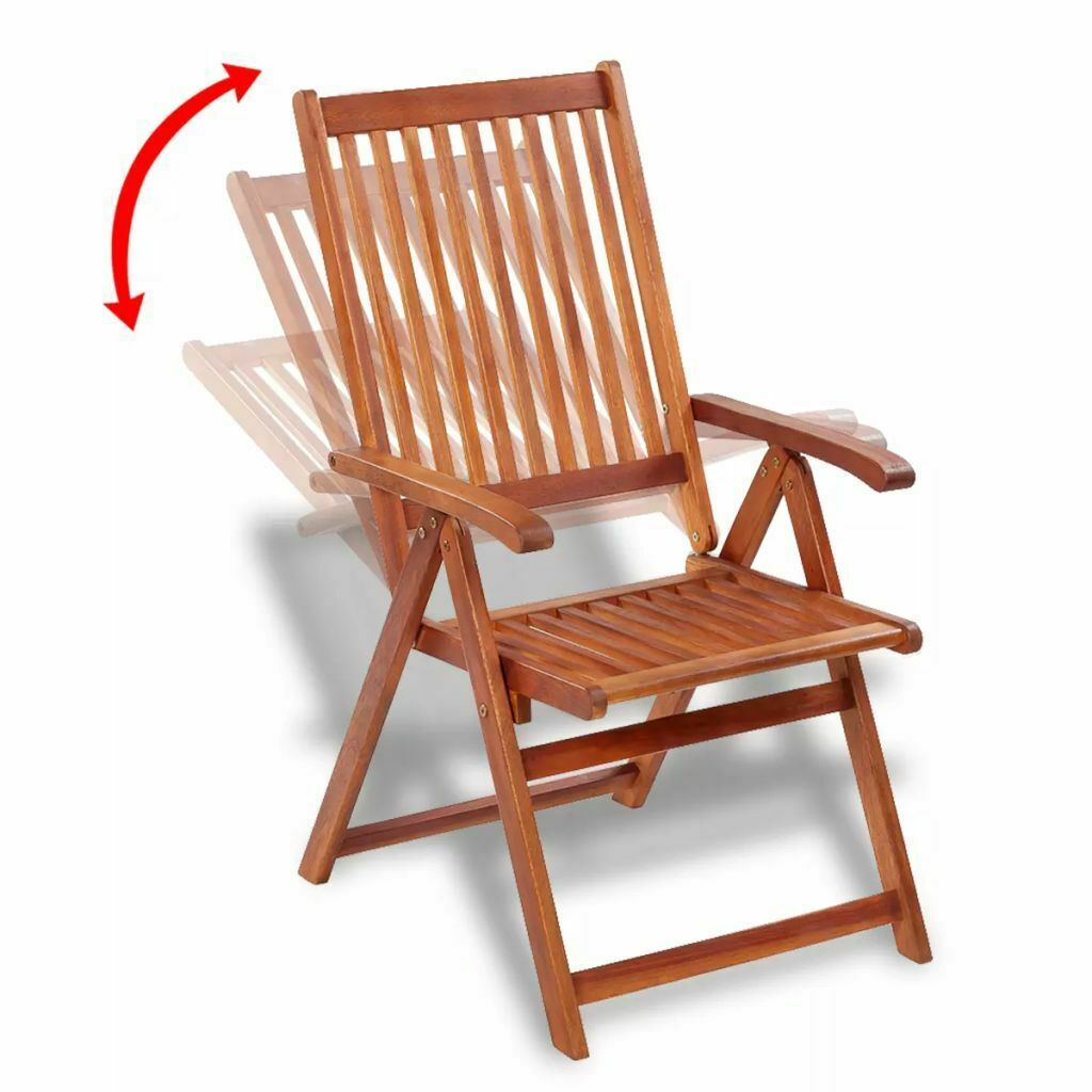 vidaXL 2x Acacia Wood Outdoor Dining Chair Home Kitchen Furniture Seat Dinner image 4