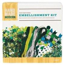 HAND MADE MODERN EMBELLISHMENT KIT (green) - $3.99