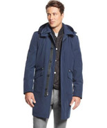 MICHAEL Kors Mens Conway Classic Fit Vested Rain Coat 3 In 1 Black Size ... - $244.99