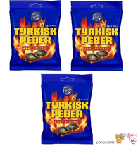 Tyrkisk Peber  Candy x 3 pack 450g  15.87 oz Hot Salty Licorice Fazer Finland - $19.80