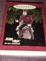 HALLMARK KEEPSAKE ORNAMENT STAR TREK NEXT GENERATION COMMANDER WILLIAM T... - $10.00