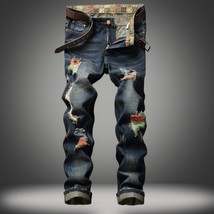 2018 New Arrival Fashion Summer Style Man's Street Personality Brushing Jeans Me - $32.64