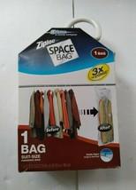 Lot of 2 Ziploc Space Bag Suit Size Hanging Bag 1 Bag Each - $22.76