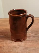 Vintage Rick Hamelin, Warren MA Glazed Redware Mug Stein - $29.65
