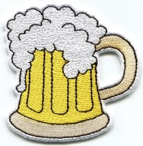 Mug of beer glass pint stein embroidered applique iron-on patch S-1434 - $2.95