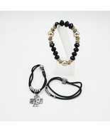 Three Bracelets with Charms, Faceted Beads and Rhinestones - $20.00