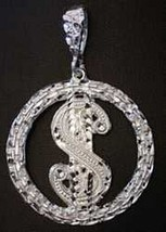 NICE CASH $ DOLLAR Sterling Silver Money Sign Charm Pendant - $59.28