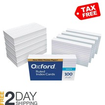"""Oxford Ruled Index Cards, 3"""" x 5"""", White, 1,000 Cards (10 Packs of 100) ... - $21.77"""