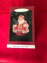 New Vintage Hallmark Keepsake Special Edition Ornament 1996 Evergreen Santa - $6.79